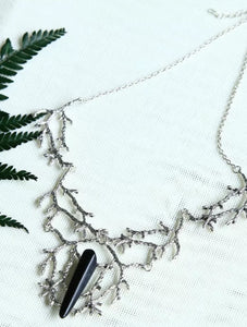 Beautiful Crystal Tree Branch Necklace