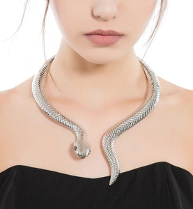 Wrap Around Snake Choker Necklace