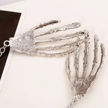 Load image into Gallery viewer, Skeleton Hands Large Pendant Necklace