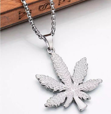 Marijuana Cannibas Metal Pendant Necklace
