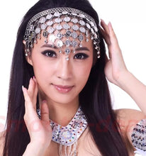 Load image into Gallery viewer, Belly Dancing Coined Headband
