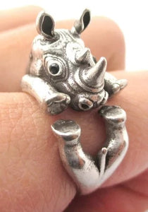 Super Cute Adjustable Rhinoceros Ring For Kids Or Adults