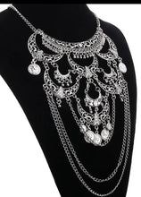 Load image into Gallery viewer, Skull Style Large Belly Dancing Necklace