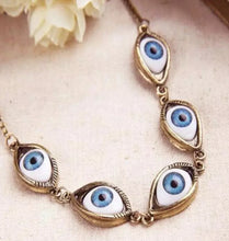 Load image into Gallery viewer, Five Blue Eyes Pendant Necklace