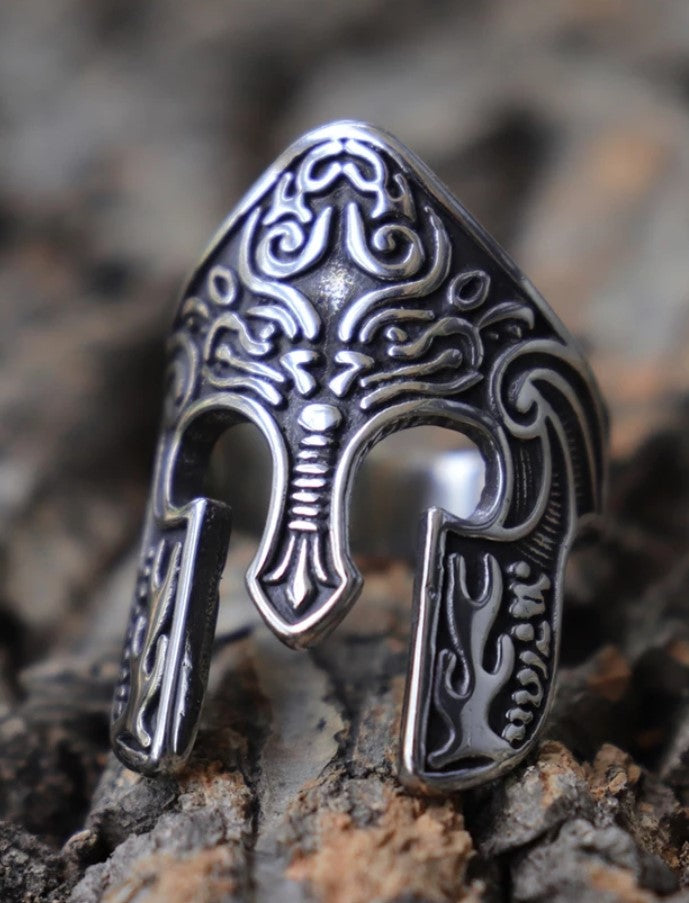 Knights Helmet Mens Ring