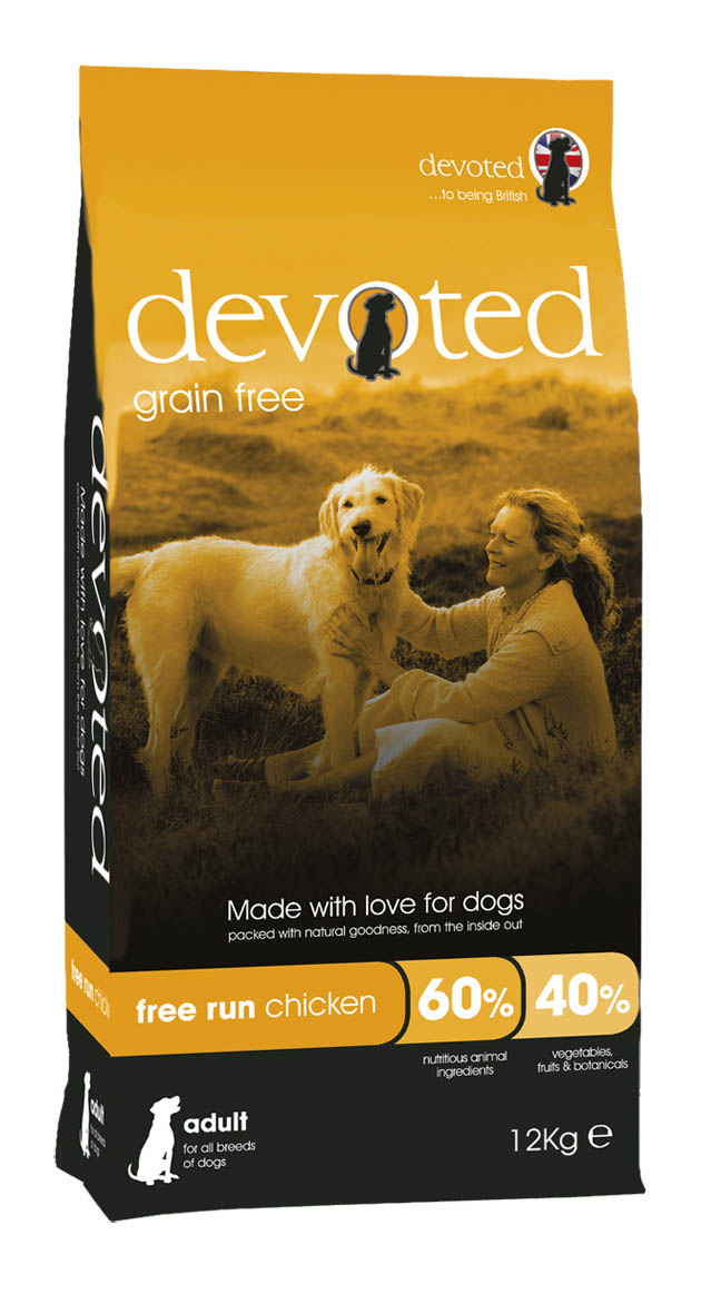 Devoted Grain Free 100% Natural Free Run Chicken Dog Food