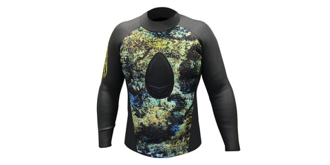 Smooth Skin/Neoprene Non-Hood Wetsuit Top 3.5mm