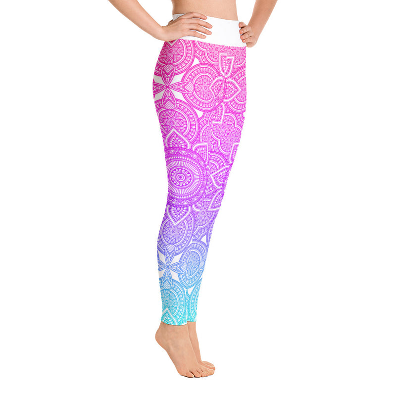 RTYM Pink and Blue Abstract Leggings