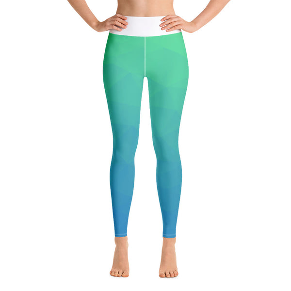 RTYM Sea Green &  Blue Beach Leggings - Shop: Resilience Through Yoga
