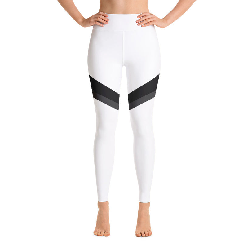 RTYM Striped of Courage White Yoga Leggings - Shop: Resilience Through Yoga