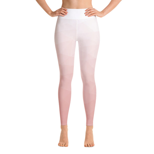 RTYM Soft Pink & white lush Leggings - Shop: Resilience Through Yoga