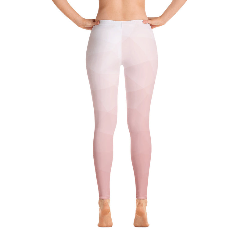 RTYM Soft Pink & white lush Leggings (Without Waistband) - Shop: Resilience Through Yoga