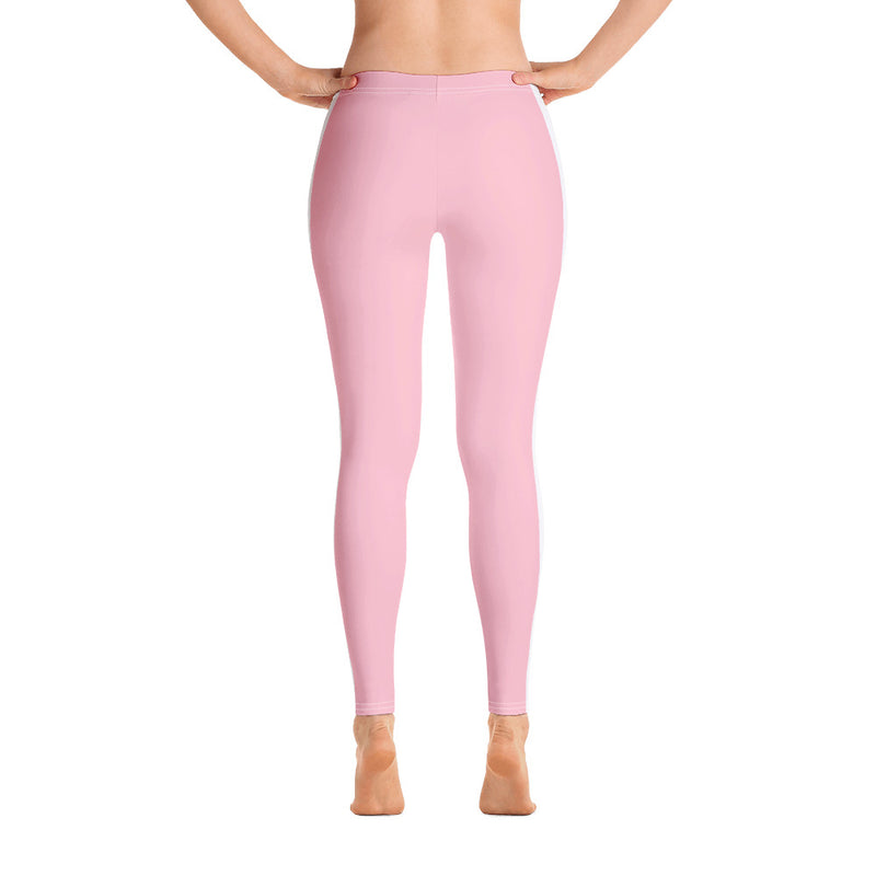 Pink Stripe Yoga Leggings