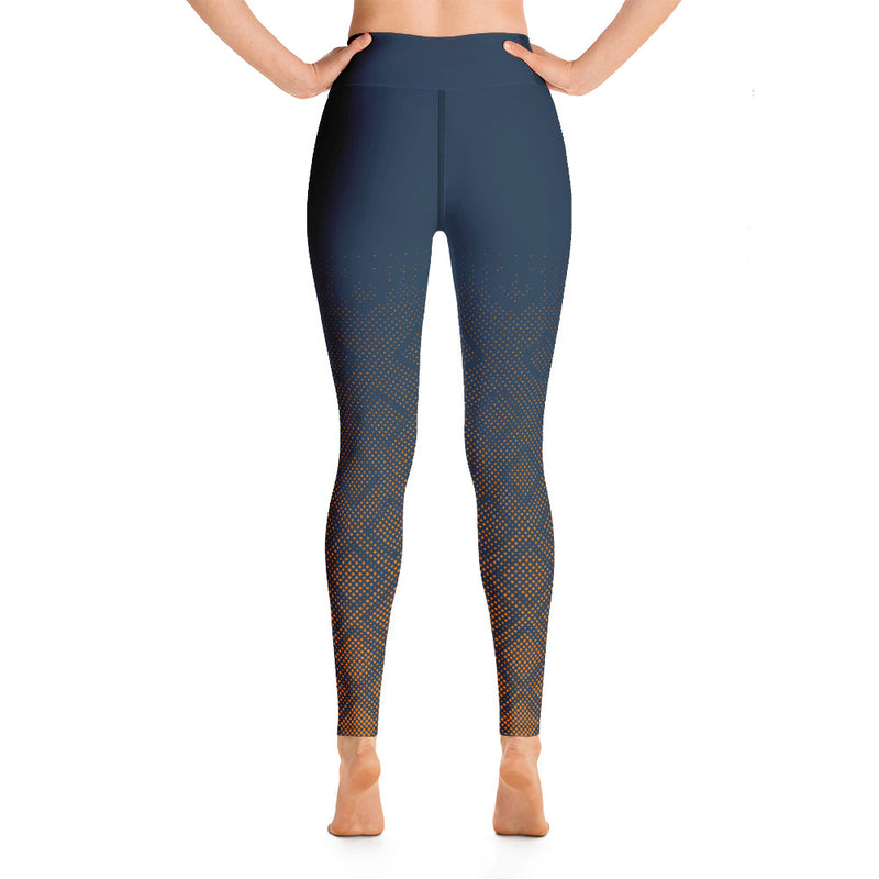 RTYM Dark Blue & Brown Sports Leggings
