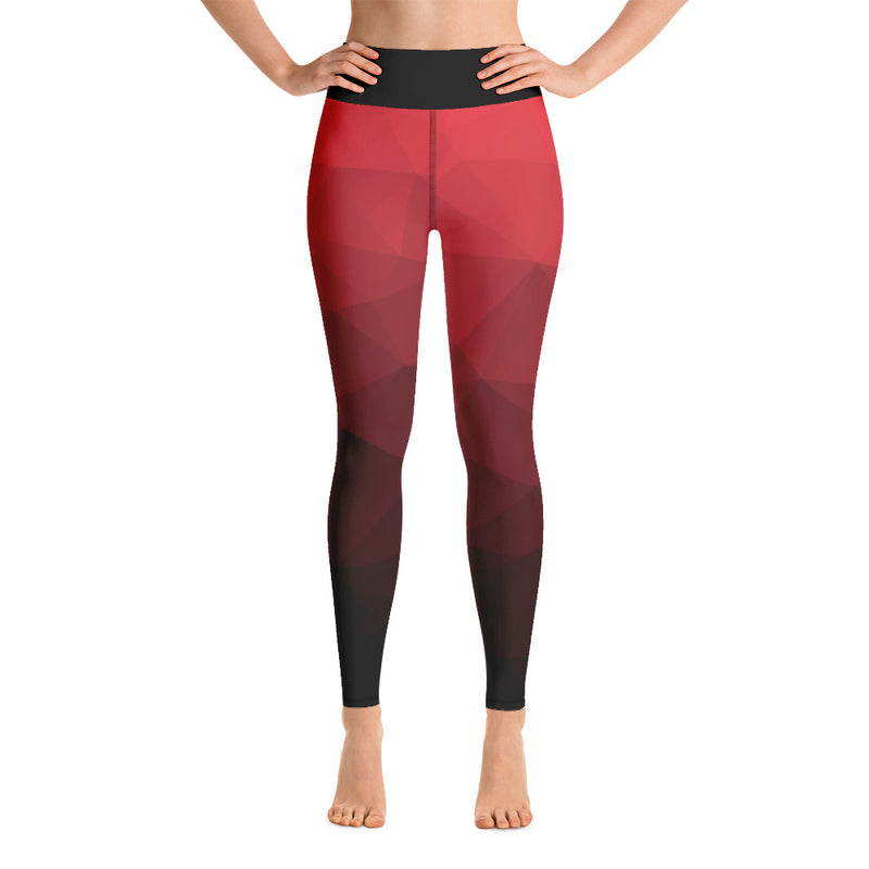 RTYM Red & Black Sports Leggings