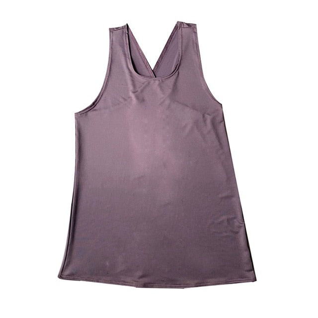 RTYM Casual solid color Exercise Tank