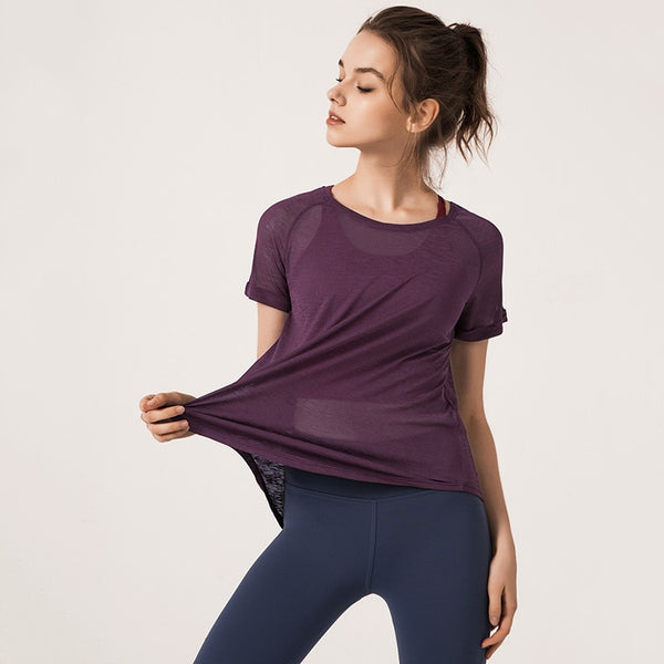 RTYM New solid color breathable yoga shirt - Shop: Resilience Through Yoga