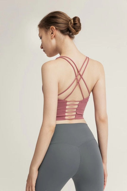 (White) Yoga Tank/Bra Backless - Shop: Resilience Through Yoga