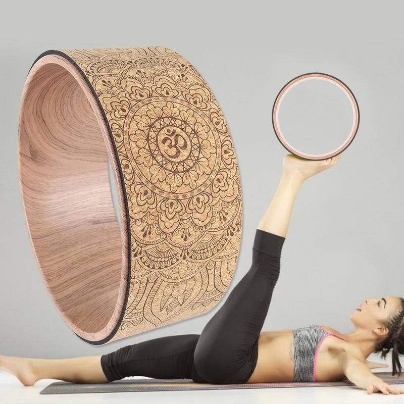 Mandala Pattern Yoga Wheel