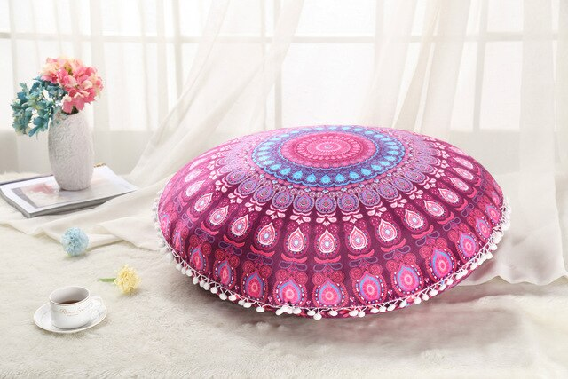 RTYM Colorful Mandala Meditation Cushion Pillow