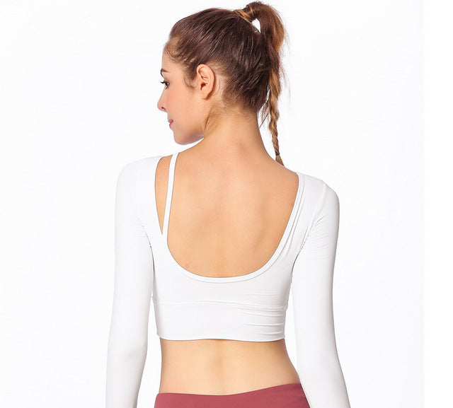 RTYM- Beautiful Backless Yoga Sports Shirt for Female Fitness - Long-sleeved shirt - Shop: Resilience Through Yoga