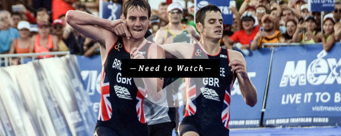 Alistair Brownlee helping brother Jonny finish his triathlon sacrificing his chance of winning.