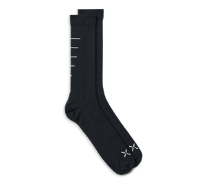 Merino Tech Sock - Black Wool