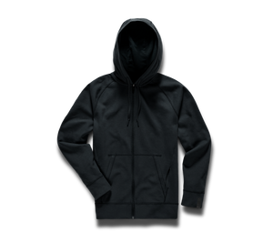Midweight Tech Hoodie (Full Zip) - Black/Full Zip