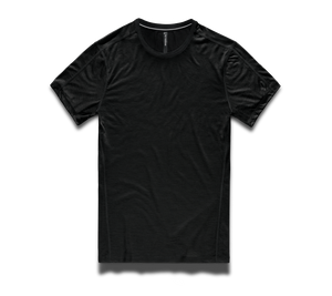 Merino Tech Shirt - Black Wool