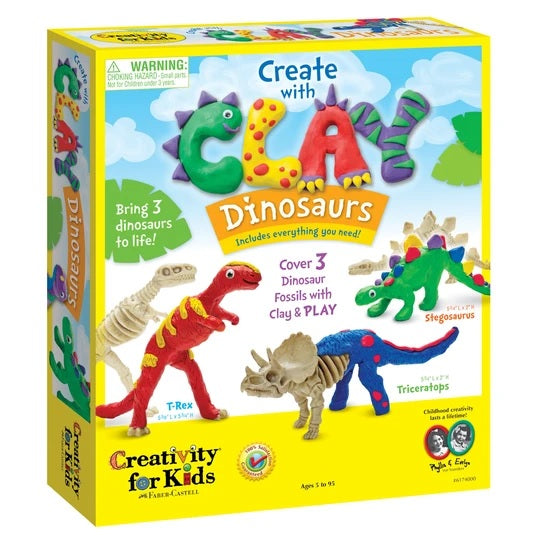 Create with Clay Dinosaurs image