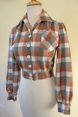 "1940's style Shadow plaid ""Shirt Jack"""