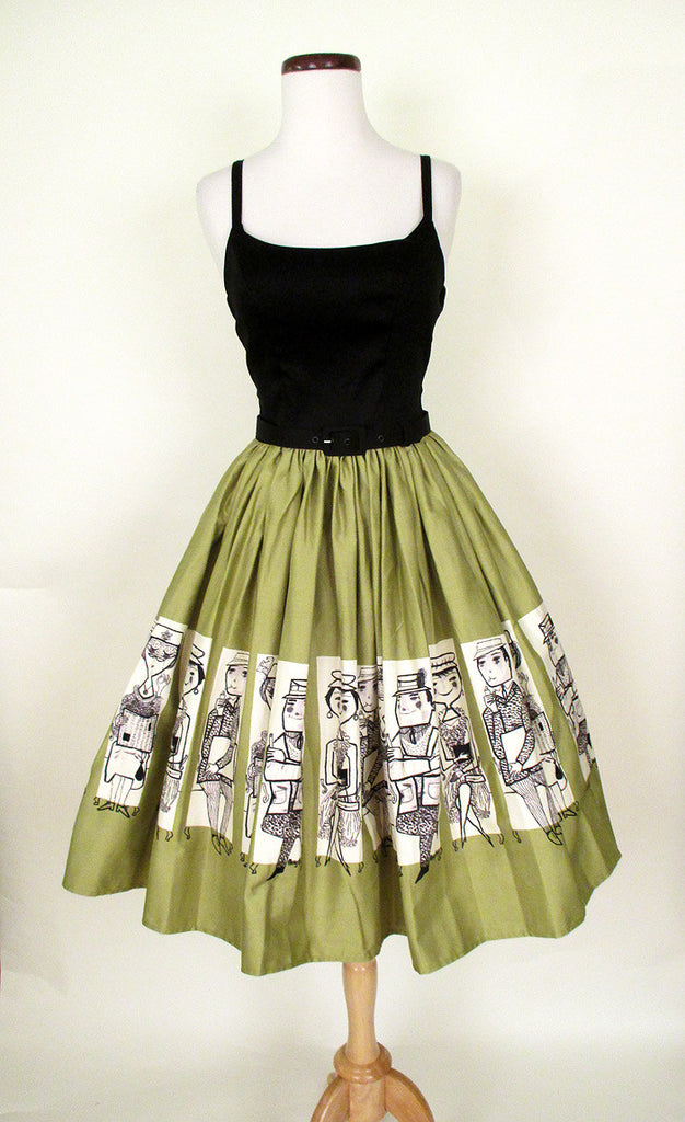 1950's Atomic Border Print Sundress