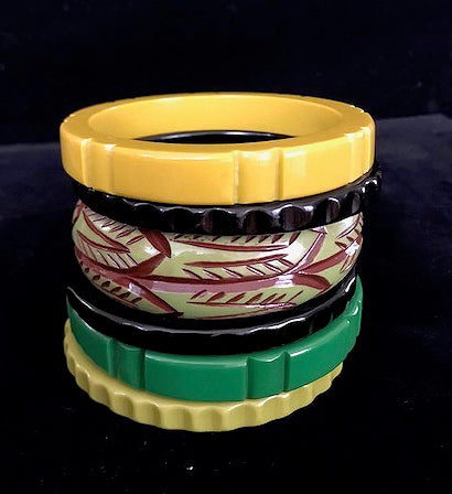 Tropical Nights -- Stack of Six Bangles