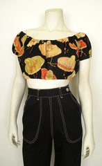 Fiesta Cropped Blouse