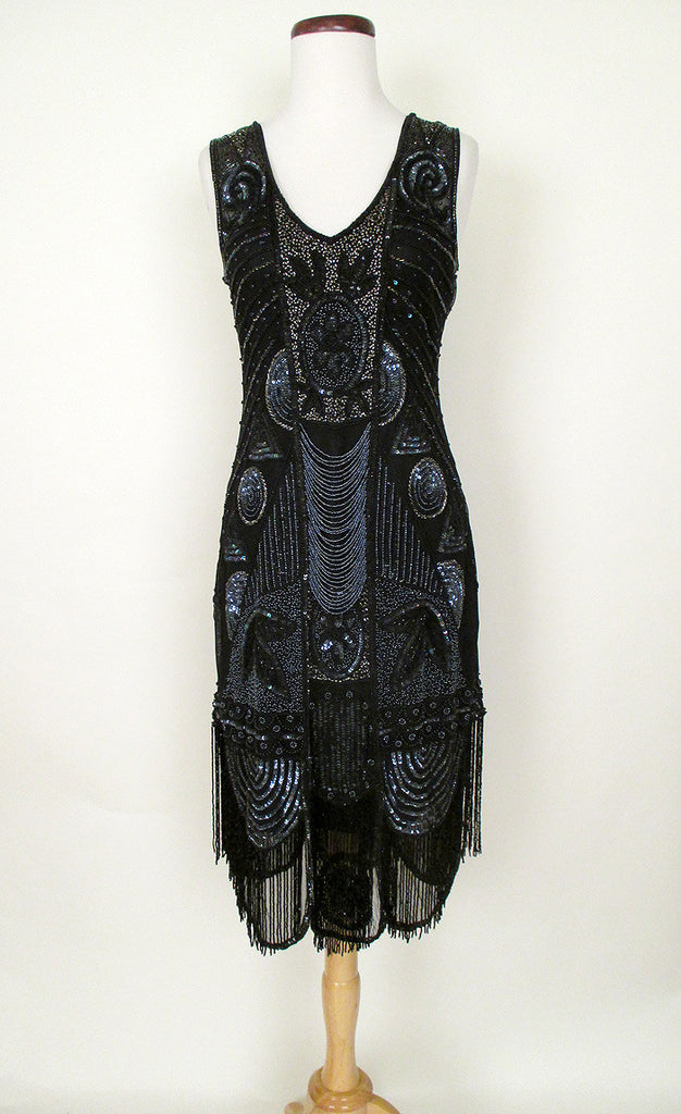 Black Beaded 1920's Gatsby Dress