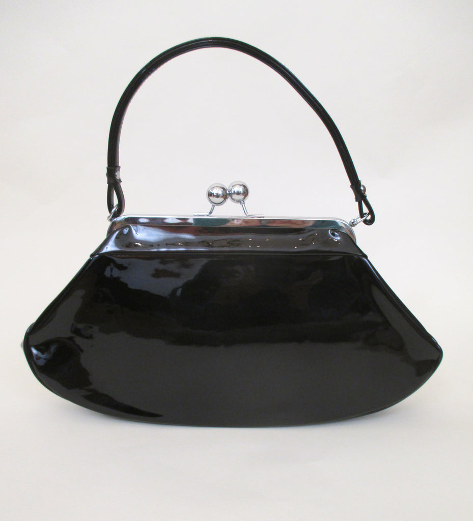 Chic 1950's Black Patent Leather Purse