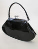 Chic Black Patent Leather Purse