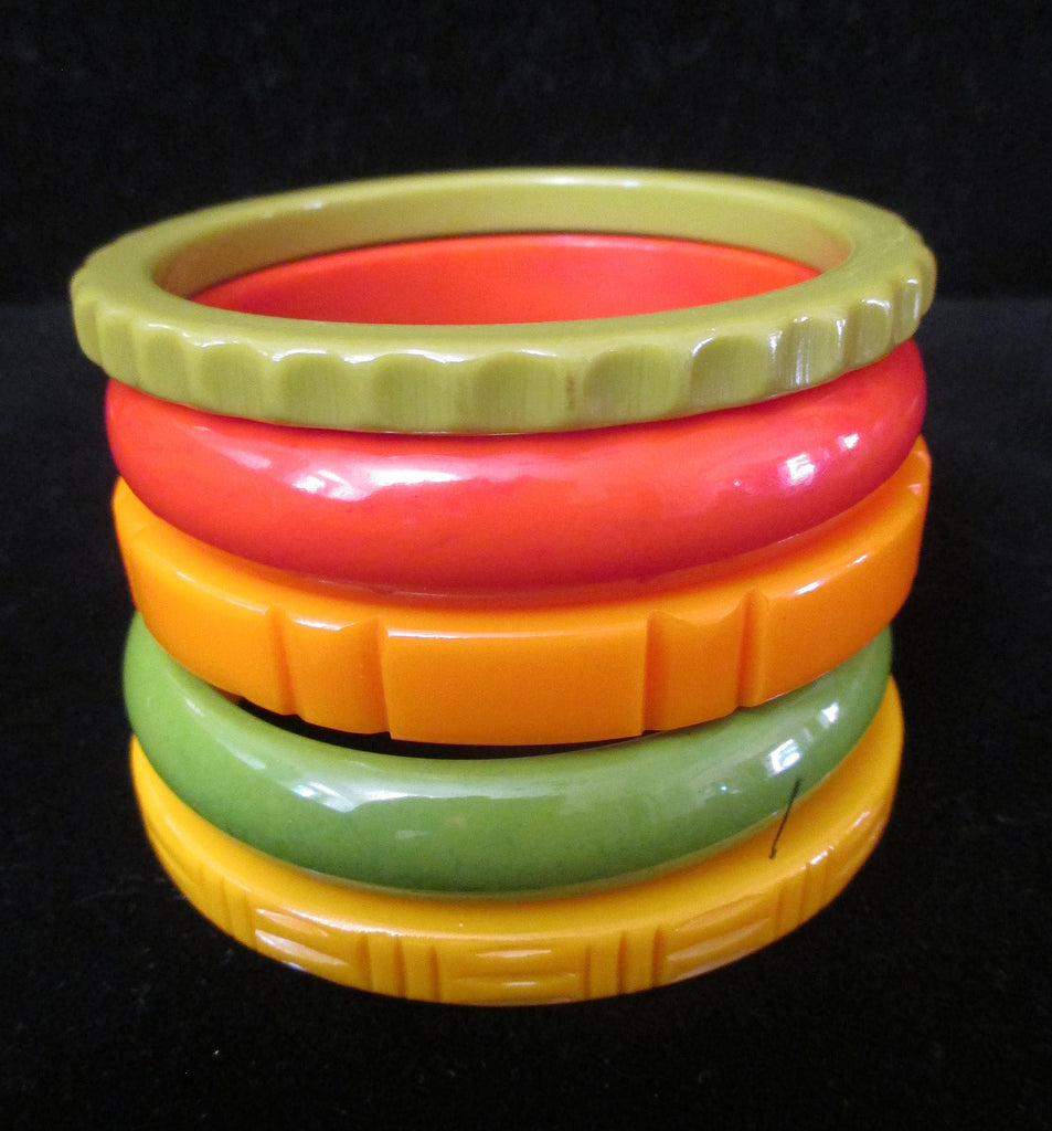 Fiesta Time --Stack of Five Bangles