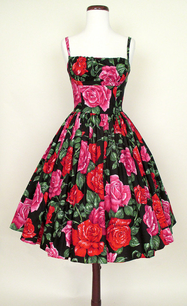 Red Rose 1950's Dress