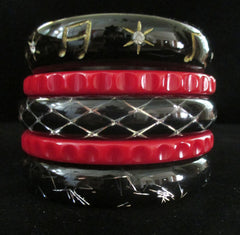Cocktail Hour --Stack of Five Bangles