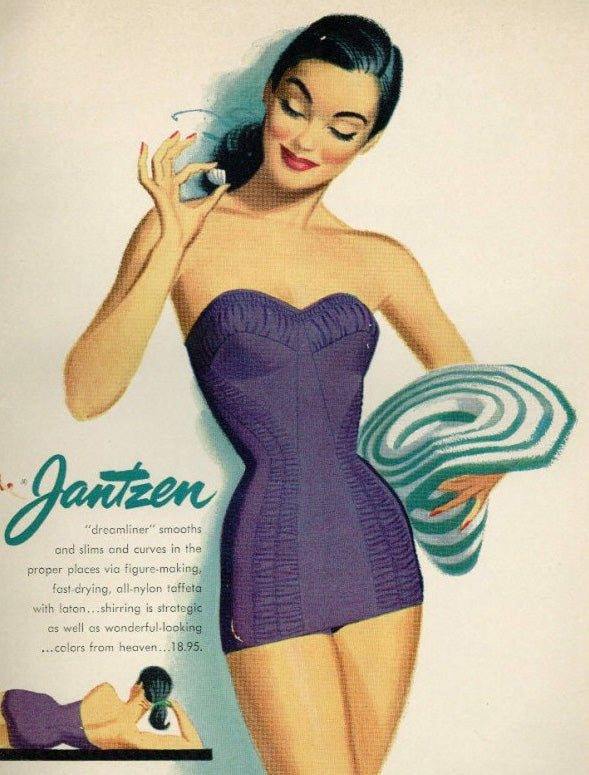 Hollywood Chic 1950's Swimsuit