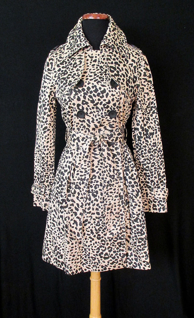 Super Spy Leopard Print Trench Coat