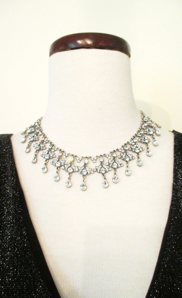 Chandelier Rhinestone Necklace