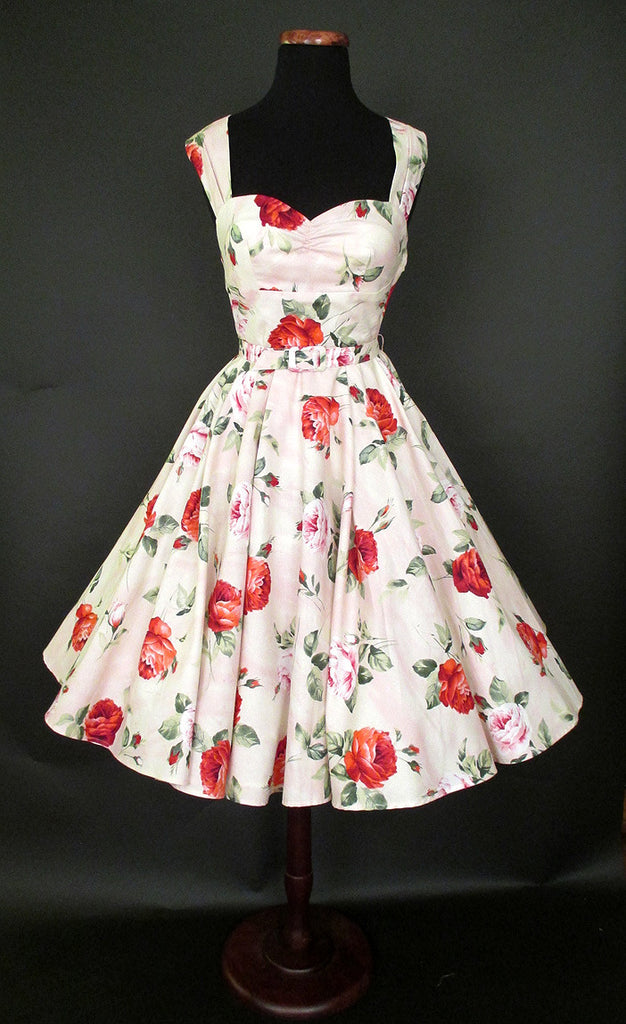 CLEARANCE SALE !! Summer Rose 1950's Party Dress