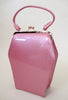 Adorable Pink Patent Leather 1950s style purse
