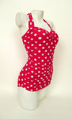 1950's Red Polka Dot Swimsuit