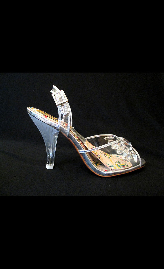 1950's Carved Lucite High Heels