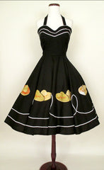 1950's Fiesta Halter Dress