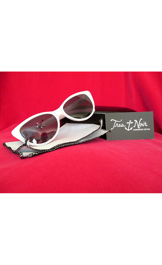 1950's Cat Eye Sunglasses---- Pearl White