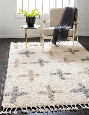 Coleman - Tapis shaggy nordique moderne - MODERNY